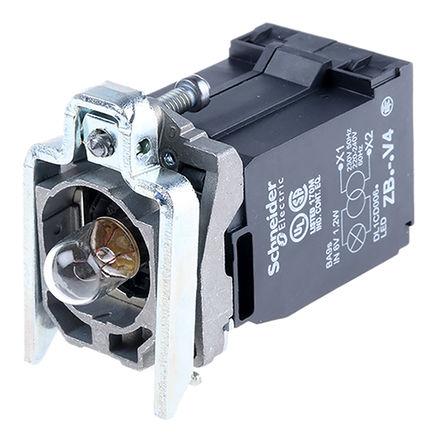 Schneider Electric - ZB4BV4 - Schneider Electric XB4 系列 照明块 ZB4BV4 白炽灯, BA 9s 基座安装接端