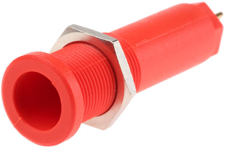 Multi Contact - 66.9427-22 - Multi Contact 66.9427-22 红色 4mm 插座, 1 kV, 5 kV 10A, 镀金触点