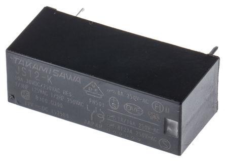 Fujitsu - JS-12-K - Fujitsu JS-12-K 单刀双掷 PCB 安装 非闭锁继电器, 12V