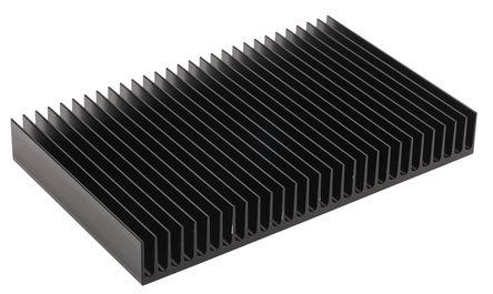 ABL Components - 125AB1250B - ABL Components 黑色 散�崞� 125AB1250B, 0.9K/W, 125 x 200 x 25mm