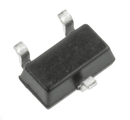 ROHM - 2SC4102T106R - ROHM 2SC4102T106R , NPN 双极晶体管, 50 mA, Vce=120 V, HFE:180, 100 MHz, 3引脚 SC-70封装