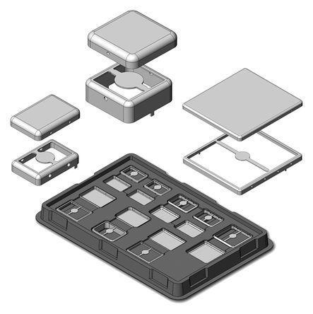 Masach Technologies - MS-ENG-KIT21 - Masach Technologies MS 系列 镀锡钢制 PCB 外壳 MS-ENG-KIT21