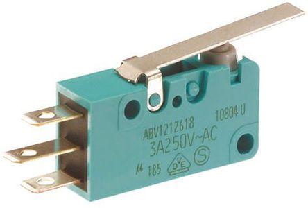 Panasonic - ABV1212503 - Panasonic ABV1212503 单刀双掷 摆杆 微动开关, 5 A @ 250 V 交流