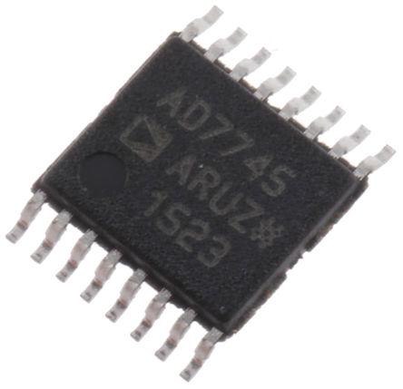 Analog Devices - AD7745ARUZ - Analog Devices AD7745ARUZ 24 位 �容�底洲D�Q器, 16引�_ TSSOP封�b