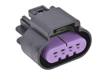 Delphi - 15487756 - Delphi GT 150 系列 2行 4路 电缆安装 黑色 母 连接器 15487756, 压接端接
