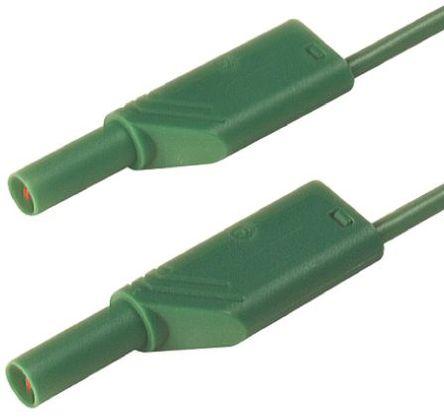 Hirschmann Test & Measurement - 934089104 - Hirschmann Test & Measurement 934089104 绿色 测试引线, 32A额定电流, 1000V ac/dc, 公至公, 2m长