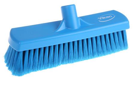 Vikan - 70663 - Vikan 70663 蓝色 软质 PET刷毛 扫帚, 65mm长刷毛, 320 x 80mm, 适用于 干区域