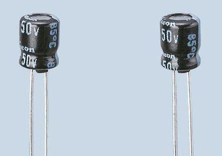 Nichicon - UMA1E470MDD - Nichicon MA 系列 25 V 直流 47μF 通孔 铝电解电容器 UMA1E470MDD, ±20%容差, 最高+85°C