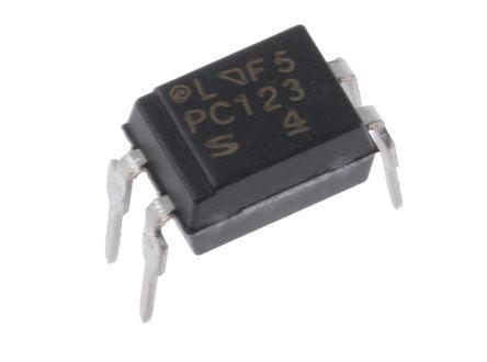 Sharp - PC123X1YSZ0F - Sharp 光耦 PC123X1YSZ0F, 直流输入, 晶体管输出, 4引脚 PDIP 封装