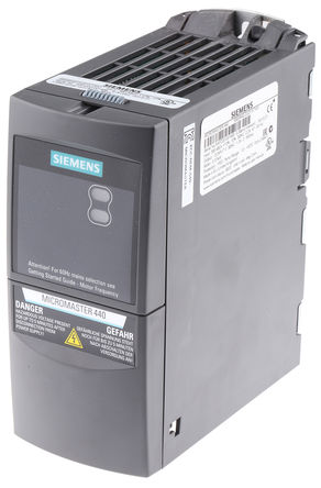 Siemens - 6SE64402UD137AA1 - Siemens MICROMASTER 440 系列 IP20 0.37 kW 变频器驱动 6SE64402UD137AA1, 0 → 550 Hz, 2.2 A, 380 → 480 V 交流
