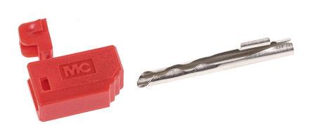 HCK - 22.5071  22.2020-22 - HCK 22.5071 22.2020-22 红色 公 2 mm 测试插头和插座, 60V dc, 10A, 镀金/镍触点