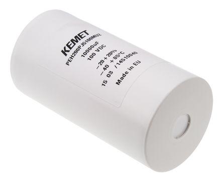 KEMET - PEH200PJ5100MU2 - KEMET PEH200 系列 100 V 直流 10000μF 底盘安装 铝电解电容器 PEH200PJ5100MU2, ±20%容差, 23mΩ(等值串联), 最高+85°C, 罐 - 螺钉接线端子,径向封装