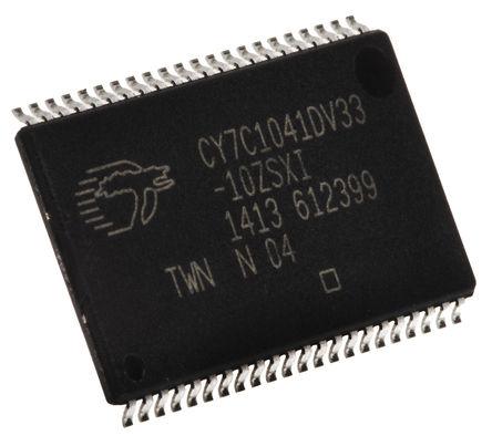 Cypress Semiconductor - CY7C1041DV33-10ZSXI - Cypress Semiconductor CY7C1041DV33-10ZSXI, 4Mbit SRAM �却�, 256K ��字 x 16 位, 3 → 3.6 V, 44� TSOP封�b