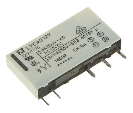 Fujitsu - FTR-LYCA012Y - Fujitsu FTR-LYCA012Y 单刀双掷 PCB 安装 非闭锁继电器, 12V