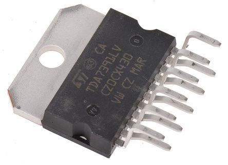 STMicroelectronics - TDA7391LV - STMicroelectronics TDA7391LV AB 类 音频放大器 IC, 65dB, +150 °C, 26 W @ 4 Ω最大功率, 11引脚 MULTIWATT V封装