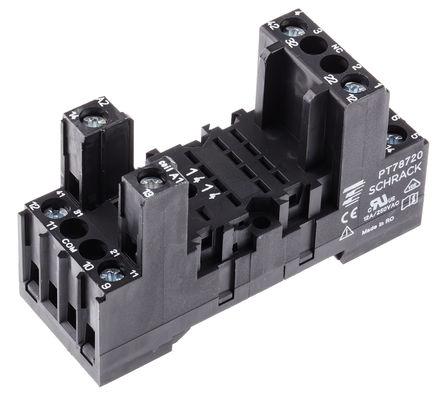 TE Connectivity - PT78720 6-1415034-1 - TE Connectivity 继电器插座 PT78720 6-1415034-1, 适用于PT2 系列