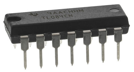 Texas Instruments - TL084CN - Texas Instruments TL084CN 四路 运算放大器, 3MHz增益带宽积, 14引脚 PDIP封装