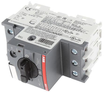 ABB - MS132-32 - ABB MS132 系列 15 kW 3P 手动 电动机保护断路器 MS132-32, 690 V 交流, 1/3相, IP20