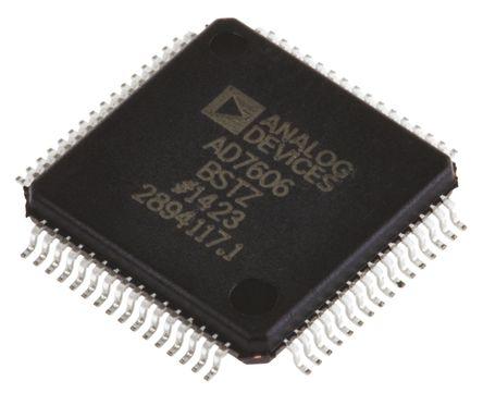Analog Devices - AD7606BSTZ - Analog Devices AD7606BSTZ 16 位 ADC, Parallel & Serial接口, 64引脚 LQFP封装
