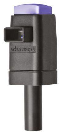 Schutzinger - SDK 799 / BL - Schutzinger SDK 799 / BL 蓝色 4mm 插座, 300V 16A, 镀镍触点
