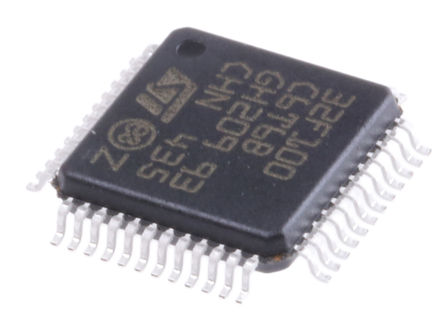 STMicroelectronics - STM32F100C6T6B - STM32F 系列 STMicroelectronics 32 bit ARM Cortex M3 MCU STM32F100C6T6B, 24MHz, 32 kB ROM 闪存, 4 kB RAM, LQFP-48