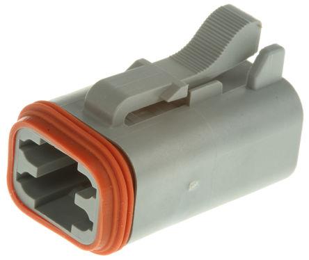 Amphenol - AT06-4S - Amphenol 4路 电缆安装 公 电源连接器 AT06-4S
