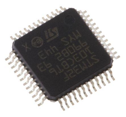 STMicroelectronics - STM32F103CBT6 - STM32F 系列 STMicroelectronics 32 bit ARM Cortex M3 MCU STM32F103CBT6, 72MHz, 128 kB ROM 闪存, 20 kB RAM, 1xUSB, LQFP-48