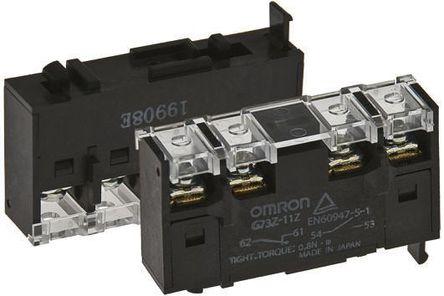 Omron - G73Z-11Z - DIN Rail 辅助触点块, 双刀单掷
