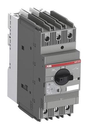 ABB - MS165-54 - ABB MS 系列 MS165 系列 22 kW 手动启动器 1SAM451000R1016, 600 V 交流, 54 A