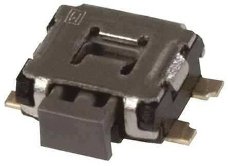 Panasonic - EVQP7J01K - Panasonic 黑色 推入板 触觉开关 EVQP7J01K, 单刀单掷 - 常开, 50 mA @ 12 V 直流 1.35mm