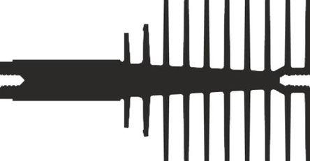 AAVID THERMALLOY - 0S517/100/B - AAVID THERMALLOY 黑色 散热器 0S517/100/B, 2.09K/W, 夹安装, 100 x 40 x 75mm