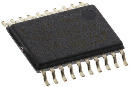 STMicroelectronics - STM32F030F4P6 - STMicroelectronics STM32F 系列 32 bit ARM Cortex M0 MCU STM32F030F4P6, 48MHz, 16 kB ROM 闪存, 4 kB RAM, TSSOP-20