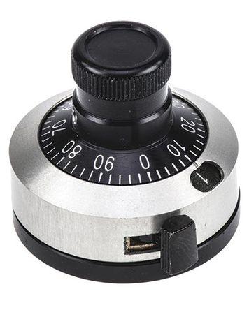 Vishay - 28A11B10 - Vishay 黑色 电位计旋钮 28A11B10, 带白色指示灯, 6.35mm轴, 23mm直径旋钮