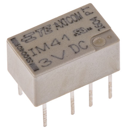 TE Connectivity - 5-1462037-3 - TE Connectivity 5-1462037-3 双刀双掷 表面贴装 自锁继电器, 3V dc, 适用于汽车,电信应用