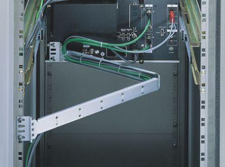 Schroff - 20118729 - Schroff 钢 带复位弹簧的线缆支架 20118729, 433.3 x 15.9 x 66.9mm, 使用于19 英寸机柜