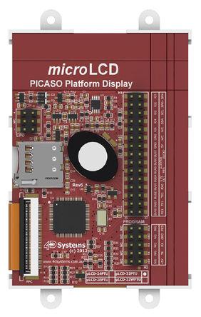 4D Systems - uLCD-32PTU - 4D Systems 3.2in TFT 触摸屏 触摸屏显示模块, 240 x 320pixels 分辨率 VGA, LED背光 I2C, TTL 接口