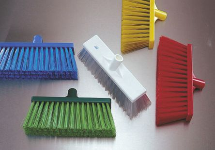 Vikan - 29154 - Vikan 29154 红色 硬质 PET刷毛 庭院扫帚, 109mm长刷毛, 325 x 70mm, 适用于 食品工业、湿地板