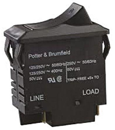 TE Connectivity - W33-T2N1Q-20 - TE Connectivity W33 系列 20A 2 极 热磁断路器 W33-T2N1Q-20, 250V ac