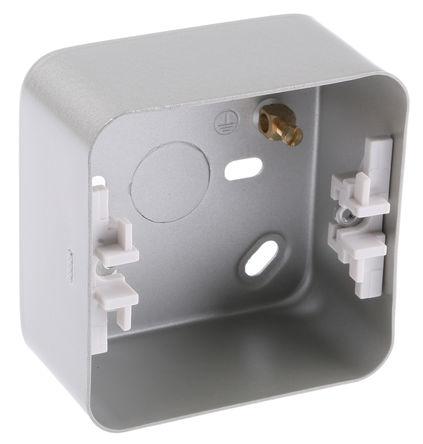 Deta - M1228N - Deta 包铠装 系列 IP00 银色 接地终端 铠装 后背箱 M1228N, 78 x 78 x 41mm, 合符BS 标准