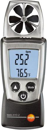 Testo - 0560 4102 - Testo 410-2 风速计, 最大风速20m/s, 测量空气流速、湿度、温度