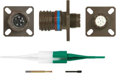 ITT - KJB0T9W35SN - ITT KJB 系列 6路 面板安�b �B接器 螺�y 插座 KJB0T9W35SN, 母�|芯, 外�こ叽�9, MIL-DTL-38999