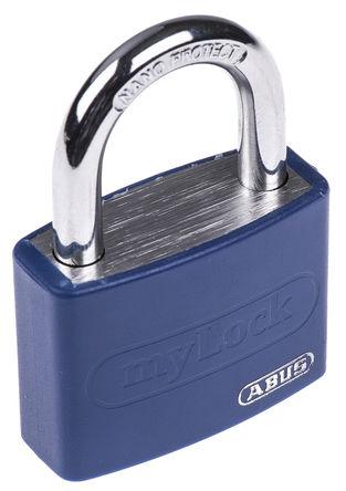 ABUS - 50867- T65AL/40 Blue - Abus 50867- T65AL/40 Blue �{色 �匙�I �X,� 安全�戽i, 6.5mm �i�^