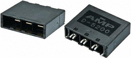TE Connectivity - 1-353081-2 - TE Connectivity Dynamic 5000 系列 3路 10.16mm节距 直角 PCB 针座 1-353081-2, 焊接端接, 通孔