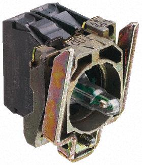 Schneider Electric - ZB4BW0M45 - Schneider Electric XB4 系列 接触块和照明块 ZB4BW0M45, 1 常开,1 常闭, 230 → 240 V 交流, 红色 LED, 螺钉接端
