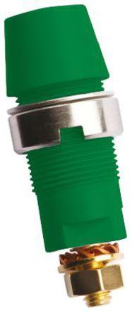 Schutzinger - SAB 6922 AU / GN - Schutzinger SAB 6922 AU / GN 绿色 4mm 插座, 1kV 32A, 镀金触点