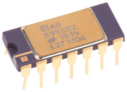 Analog Devices - AD595CDZ - Analog Devices AD595CDZ 温度传感器, ±1°C精确度, 模拟接口, 4.5 → 5.5 V电源, -55 → +125 °C工作温度, 14引脚 TO-116封装