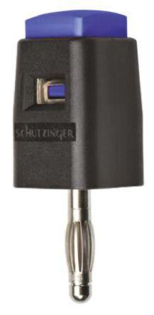 Schutzinger - SDK 502 / BL - Schutzinger SDK 502 / BL 蓝色 香蕉插头, 30 V ac, 60 V dc 16A, 镀镍触点
