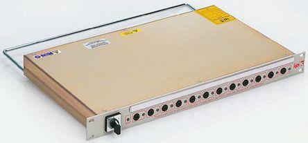 RS Pro - P13001/F - RS Pro 12 插座 电源 接线板 P13001/F, 机架安装, 20A, 250 V 带熔断器