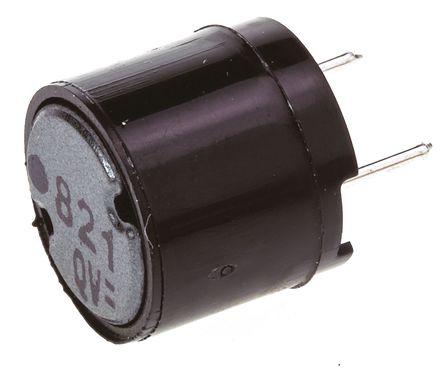 Panasonic - ELC09D821F - Panasonic ELC09D 系列 820 μH ±10% 铁氧体 ELC09D821F 引线型电感器, 300mA Idc, 1.6Ω Rdc, 9.5mm直径