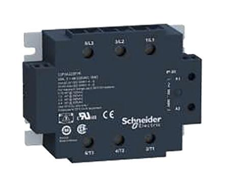 Schneider Electric - SSP3A225B7RT - Schneider Electric 25 A 面板安装 3 刀 - 常开 固态继电器 SSP3A225B7RT, SCR输出, 零交叉切换, 530 V 交流